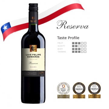 Luis Felipe Edwards Reserva Malbec 750ml